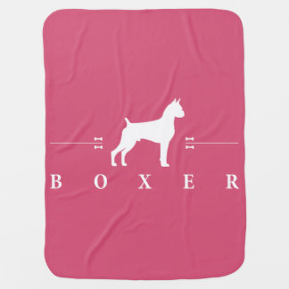 Boxer silhouette -1- swaddle blanket