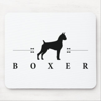 Boxer silhouette -2- mouse pad