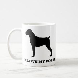Boxer Silhouette Classic White Coffee Mug