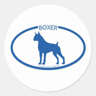 Boxer Silhouette Sticker