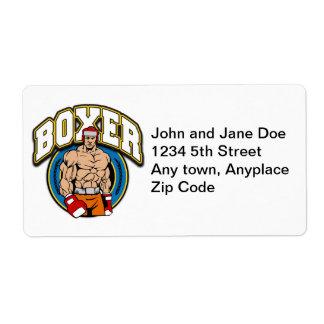 Boxer Sparring Partner Label
