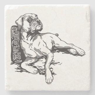 boxer stone coaster