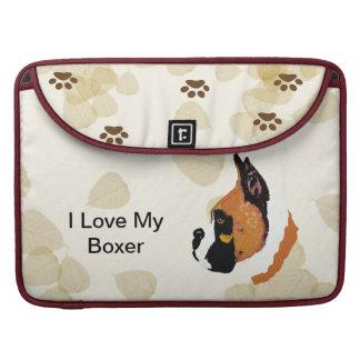 Boxer ~ Tan Leaves Motiff MacBook Pro Sleeve