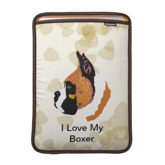 Boxer ~ Tan Leaves Motiff Sleeve For MacBook Air