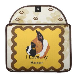 Boxer ~ Tan Leaves Motiff Sleeve For MacBook Pro