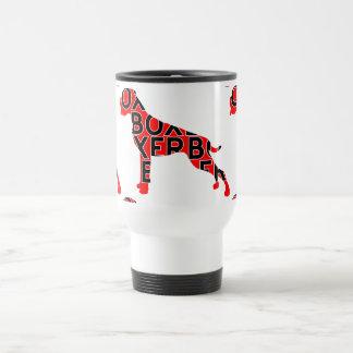 Boxer Text Hund Dog Travel Mug