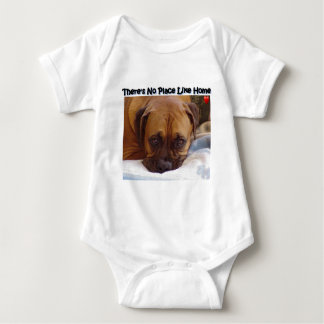 Boxer:  There's no place like home Baby Bodysuit