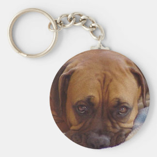 Boxer:  There's no place like home Keychain