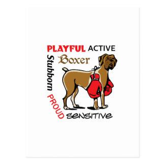 Boxer Traits Postcard
