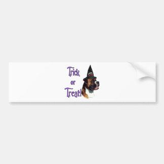 Boxer Trick Bumper Sticker