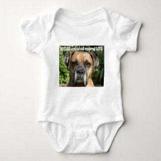 Boxer:  Velvet-covered Love Baby Bodysuit
