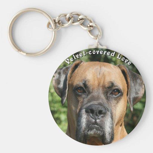 Boxer:  Velvet-covered Love Keychains
