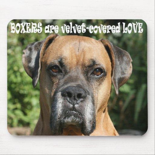 Boxer:  Velvet-covered Love Mouse Pad