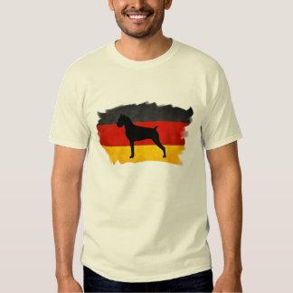 Boxer with German Flag Tee Shirt
