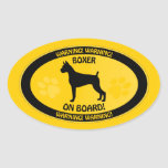 Boxer Xing Oval Stickers