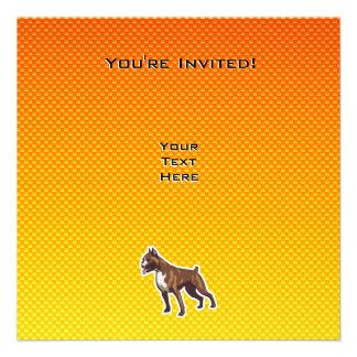 Boxer Yellow Personalized Invite