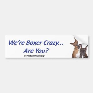 BoxerCrazy Bumpersticker Car Bumper Sticker