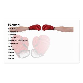 BoxerHandshake, Name, Address 1, Address 2, Con... Business Card Templates