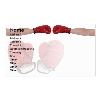 BoxerHandshake, Name, Address 1, Address 2, Con... Business Card Template