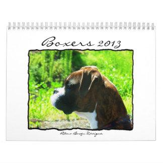 Boxers 2013 Calendar