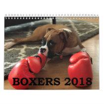 BOXERS 2018 CALENDAR