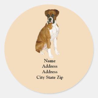 Boxers Address Label Round Stickers