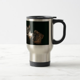 Boxers and Bostons: Awesome Twosome 2 Travel Mug
