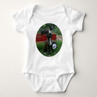 Boxers and Bostons: Little Sweethearts Baby Bodysuit