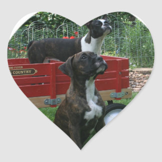 Boxers and Bostons: Little Sweethearts Heart Sticker