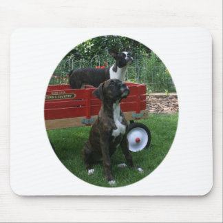 Boxers and Bostons: Little Sweethearts Mouse Pad