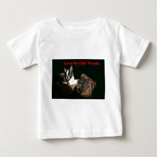 Boxers and Bostons:  Love Beyond Words Baby T-Shirt