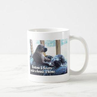 Boxers and Bostons Make a House a Home Mug
