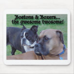 Boxers and Bostons Mouse Pad