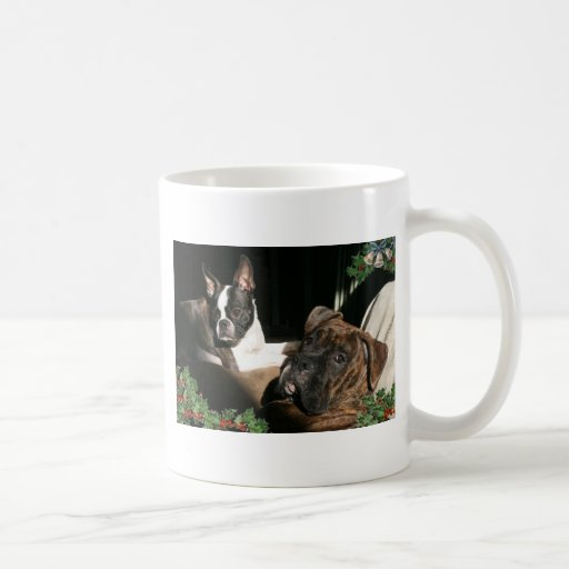 Boxers and Bostons: Pals Coffee Mug