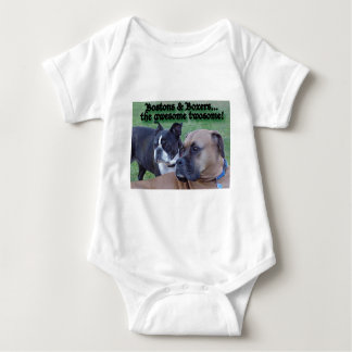 Boxers and Bostons: The Awesome Twosome Baby Bodysuit