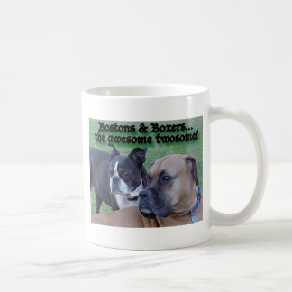 Boxers and Bostons: The Awesome Twosome Coffee Mug