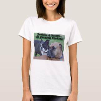 Boxers and Bostons: The Awesome Twosome T-Shirt