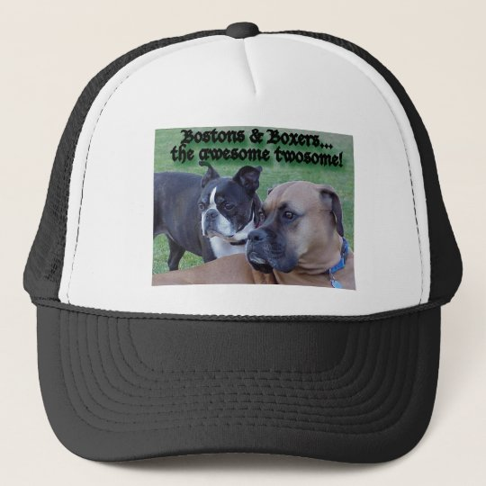 Boxers and Bostons Trucker Hat