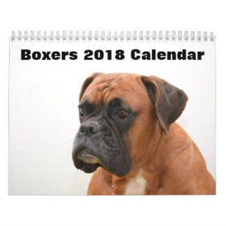 Boxers Dogs 2018 Calendar