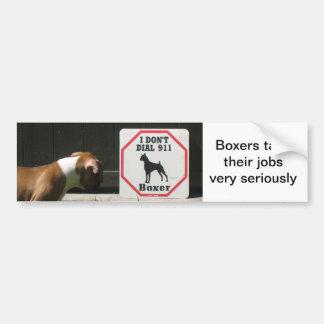 Boxers Dont Dial 911 Bumper Sticker Car Bumper Sticker