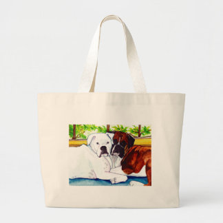 Boxers Fawn and White Canvas Bag