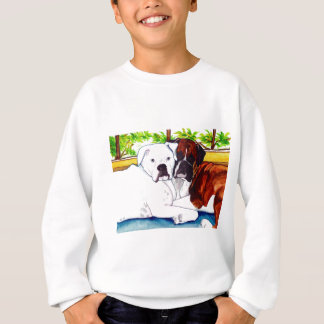 Boxers Fawn and White Sweatshirt