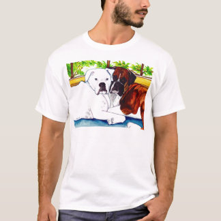 Boxers Fawn and White T-Shirt