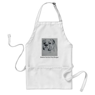 Boxers Get the First Burger! Apron