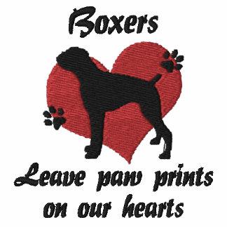 Boxers Leave Paw Prints Hoody
