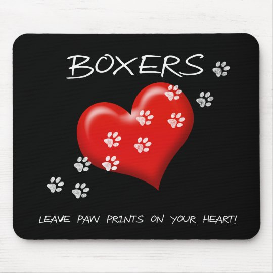 Boxers Leave Paw Prints Mouse Pad