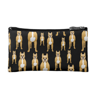 Boxers on Black. Cosmetics Bags