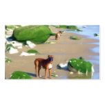 Boxers on the Beach art business cards