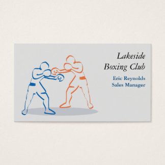 Boxers Orange Blue Business Card
