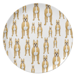 Boxers. Dinner Plate
